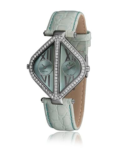 Bassel Reloj con movimiento cuarzo suizo CR3013A Turquesa 40  mm