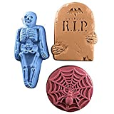 "Halloween ""Rest in Peace"", Spider, Skeleton Milky Way Soap Mold"