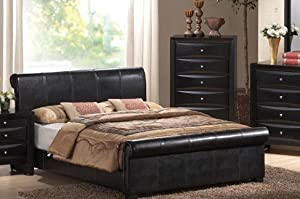 Best Best Price on California King Size Bed Black Finish deal best buy for online get it now