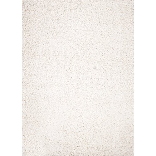 Concord Global Shaggy Plain Ivory 3'3 X 4'7 - Area Rug