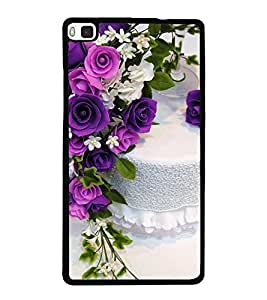 Cake and Flowers 2D Hard Polycarbonate Designer Back Case Cover for Huawei P8