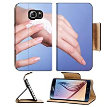 buy Msd Samsung Galaxy S6 Flip Pu Leather Wallet Case Skincare Closeup Of Female Hands Young Woman Girl Taking Care Of Her Dry Hands Palms Image 28988468 Wi
