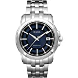 Bulova Precisionist Men's UHF Watch with Blue Dial Analogue Display and Silver Stainless Steel Bracelet - 96B159