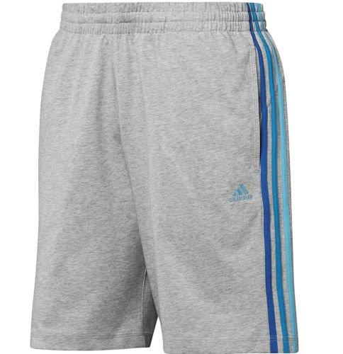 Adidas Originals Uomo HSJ Climalite Cotone Palestra Fitness Retrò Casual Pantaloncini - cotone, Grigio, 100% cotone, Uomo, Small
