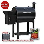 Z-grills Wood Pellet BBQ Grill and Smoker with Digital Temperature Controls