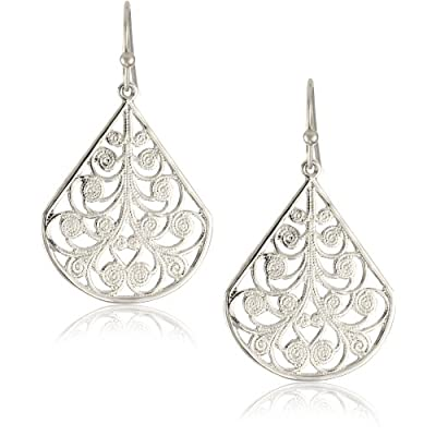1928 Jewelry Silver Vine Earrings: Jewelry