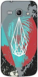 Snoogg RED INDIAN SPAZ Hard Back Case Cover Shield For Samsung Galaxy Core 2