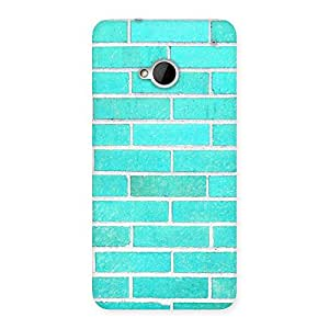 Enticing Brick Cyan Back Case Cover for HTC One M7