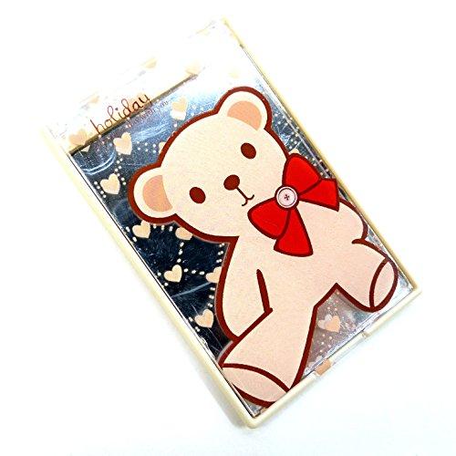 二つ折りファンシーコンパクトミラー クマのぬいぐるみ CMー512