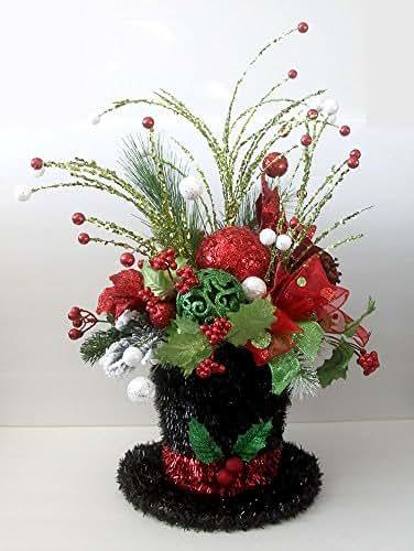 Amazon christmas decor centerpiece snowman hat