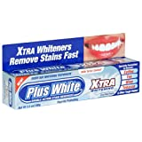 Plus White Xtra Whitening Every Day Whitening Toothpaste with Tartar Control, Cool Mint, 3.5 oz (100