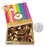 Chocholik Dry Fruits - Best Cocktail Dry Fruit Treat Of Dry Fruits, 400gm With 5gm Pure Silver Coin - Gifts For...