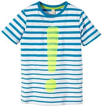ESPRIT Jungen T-Shirt Striped, Gestreift, Gr. 104, Blau (STRONG BLUE)