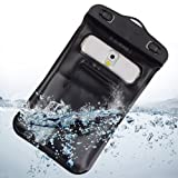 Black Waterproof Diving Dry Bag Pouch Case With Underwater Earphones and Armband for Samsung Galaxy Note 3 / Samsung Note 2 / S5