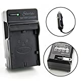Silverlake Portable Wall & Car Rapid Charger for Canon LP-E6 Camera Batteries - Fits Canon EOS 5D Mk II, 5D Mk III, 5D Mk IV, 6D, 7D, 60D, 60Da, EOS 70D, 80D, 5DS, 5DS R, C700, XC10, XC15 - DSLR
