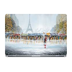 Posterboy Eiffel Art Laptop Skin (Multicolor)