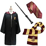 Robe Of Magic For Children [Harry Potter Cosplay Costume Gorgeous Set Of 4] 130cm ~ 138cm Size Hogwarts Gryffindor...