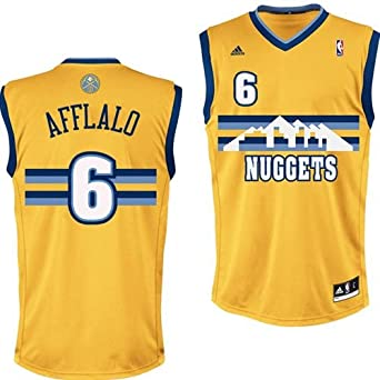 Aaron Afflalo Denver Nuggets Yellow NBA Youth Revolution 30 Replica Jersey by adidas