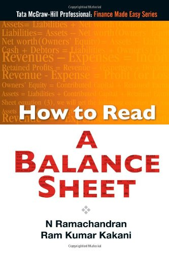 How to Read A Balance Sheet, by N Ramachandran