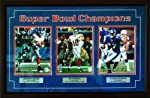New York Giants Super Bowl XLII Champs Three Photo Collage Signed & Framed