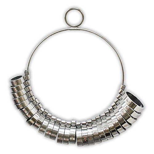 Hawk 29 Piece Nicket Plated Ring Sizing Wide-band Set (Ring Sizer Wide compare prices)