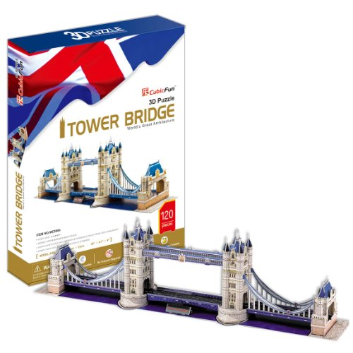 London Tower Bridge - World Great Architecture - 120 Pieces 3D Puzzle - Cubic Fun Series