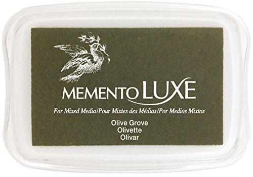 Tsukineko Memento Luxe Mixed Media Inkpad, Olive Grove