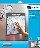 Avery Feuilles calendrier effaçables à sec adhésifs et repositionnables 25,4cmx25,4cm...
