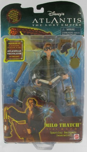 Atlantis the Lost Empire Milo Thatch With Sparking Backpack Generator