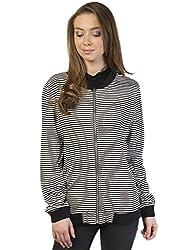 Bonhomie Women Jacket [BCQS025_Black/White_Small]