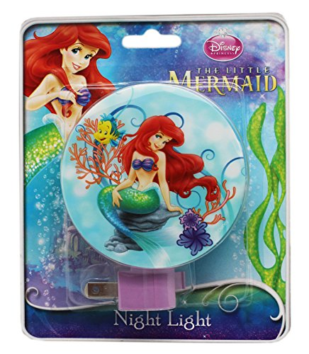 Blue Little Mermaid Ariel Plug In Night Light with Switch - 1