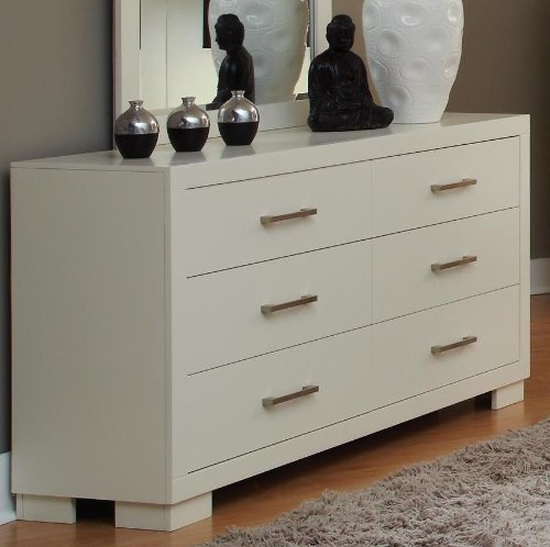 Coaster Home Furnishings Contemporary Dresser, White front-834440