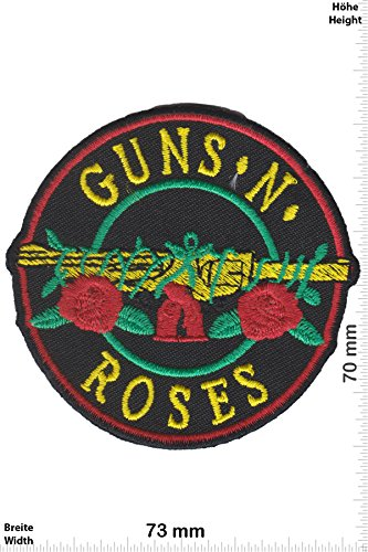 Patch - Guns n Roses - two guns - round - Fun Patch - Adult - Vest - Iron on Patch - toppa - applicazione - Ricamato termo-adesivo - Give Away