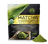 Matcha Green Tea Powder (Premium Culinary Grade) - USDA Organic - Vegan Certified - 30g (1.06 oz) - Perfect for Baking, Smoothies, Latte, Iced Tea. Perfect Dietary Supplement, Gluten & Sugar Free