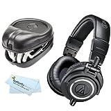 Audio-Technica ATH-M50x Professional Monitor Headphones (New 2014 Model)+ Slappa Full Sized HardBody PRO Headphone Case (SL-HP-07)