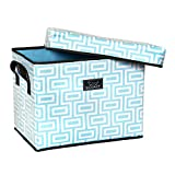 SCOUT Rump Roost Medium Lidded Storage Bin, Maze in Manhattan, 18 by 14 by 11-1/2-Inches