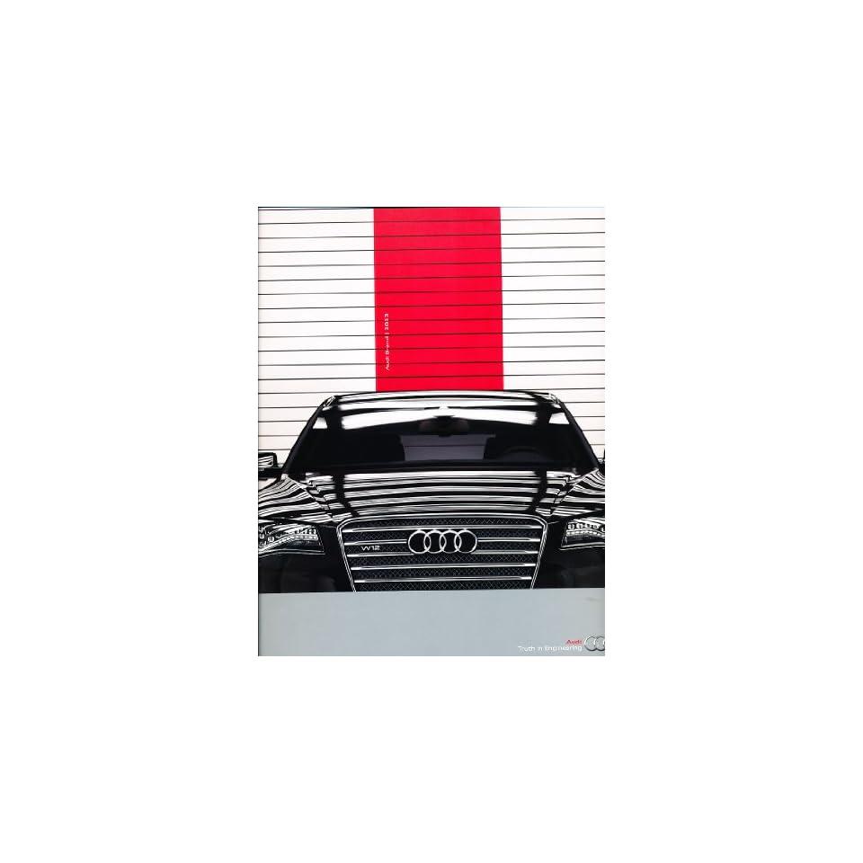 2013 Audi Line Original Sales Brochure   A8 S8 TT TTS R8 RS6 Q5 Q7 A4 A6 A5 S5