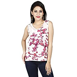LALANA Multicolor Butterfly Print Cotton Jersey Top