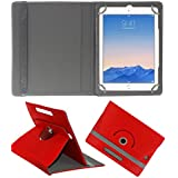 ACM ROTATING 360° LEATHER FLIP CASE FOR APPLE IPAD AIR 2 TABLET STAND COVER HOLDER RED