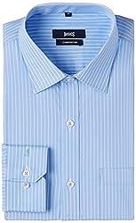 Basics Men's Formal Shirt (8907054397730_14BFS31132_Blue_40)