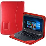 """Navitech Red Real Leather Executive Portfolio Case Cover Sleeve For The Lenovo ThinkPad Yoga S1 12.5"""""""