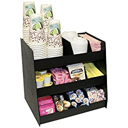 Now 11 Compartments for Coffee Condiments. Comes with 8 Extra Tall Removable Dividers. 16\