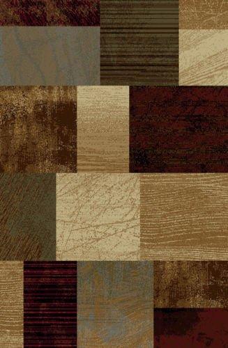 Contemporary & Casual Floral Border 5x7 Modern Block Area Rug Contemporary Carpet :Actual 5'x7' (Modern Multi-Blocks)