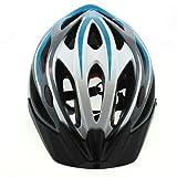 SUNWORLD Men's Bicycle Helmet Adult Sport Helmet + Waterproof Actioncam HD 720P Sport Helmet Action Video Camera DVR AVI Video Format Supports (Blue/White)