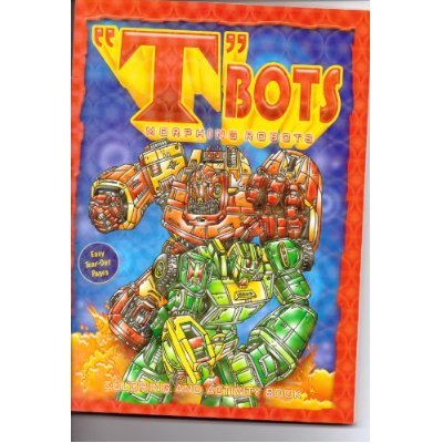 """T""Bots Morphing Robots Coloring & Activity Book - Green Robot - 1"