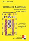 echange, troc Patrick Négrier - Temple de Salomon et diagrammes symboliques : Iconologie des tableaux de loge et du cabinet de réflexion