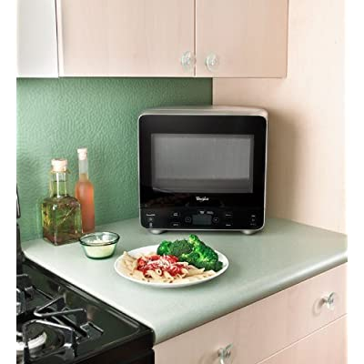 Whirlpool WMC20005YB 0.5 cu. ft. Countertop Microwave Oven 750 Watts Cooking Power, Black