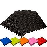 Schutzmatten Set von #DoYourFitness - 6x Puzzle Unterlegmatten für sicheren Bodenschutz für Sportgeräte, Gymnastikräume, Keller - Matten Schutz vor Kratzern, Stößen, Dellen, Kälte, Lärm, Flüssigkeit ! 6 Steckelementen á 60 x 60 x 1,2 cm (ca. 2,2m²) / In verschiedenen Farben erhältlich