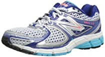 New Balance - Womens 860v3 Stability Running Shoes, Size: 8 B(M) US, Color: Silver with Turquoise