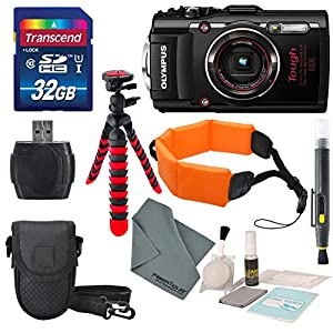 Olympus Stylus TOUGH TG-4 Digital Camera with Deluxe Accessory Bundle and Cleaning Kit